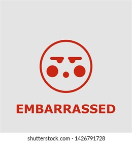 Embarrassed symbol. Outline embarrassed icon. Embarrassed vector illustration for graphic art.
