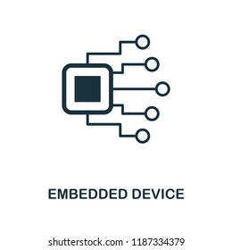 Embedded Device icon. Monochrome style design from machine learning collection. UX and UI. Pixel perfect embedded device icon. For web design, apps, software, printing usage.