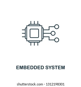 Embedded System icon. Thin line style industry 4.0 icons collection. UI and UX. Pixel perfect embedded system icon for web design, apps, software usage