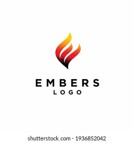Embers logo with letter M concept
