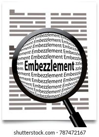 embezzlement found with magnifying glass
