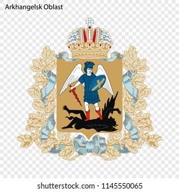Emblem of Arkhangelsk Oblast, province of Russia