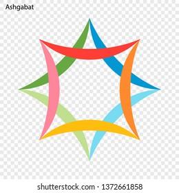 Emblem of Ashgabat City. Vector illustration