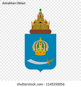 Emblem of Astrakhan Oblast, province of Russia