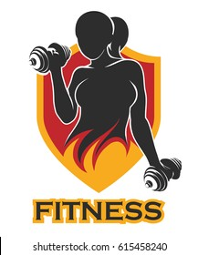 Women Fitness Logo Images Stock Photos Vectors Shutterstock Don't crosspost or repost original content from. https www shutterstock com image vector emblem athletic woman holding weight silhouette 615458240