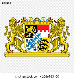 Emblem of Bavaria, province of Germany