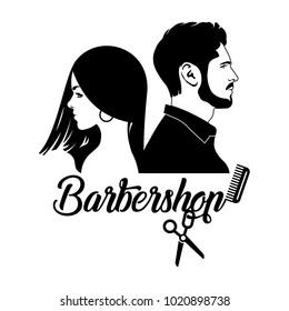 Men Beauty Salon Logo Images Stock Photos Vectors Shutterstock