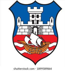 Emblem of Belgrade. colored logo of Belgrade. the capital of Serbia