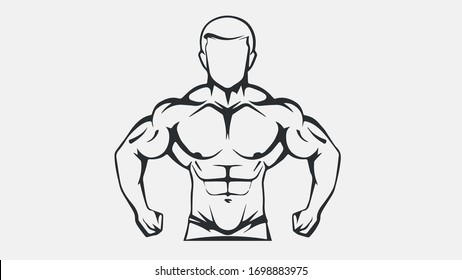 The emblem for bodybuilding 2 fitness