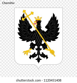 Emblem of Chernihiv. City of Ukraine. Vector illustration