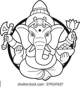 emblem depicting an Indian god Ganesha