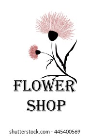 Emblem for flower shop or florist. It can be used as a sticker, sign or advertisement or other
