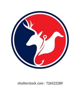Emblem Hunting and fishing logo