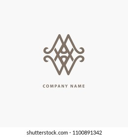 Emblem luxury beauty spa, cosmetics, jewerly, hotel, restaurant. Wedding elegant outline frame. Vector celtic luxury curve logo design. Line art ornate frame. Vintage premium design vector element.