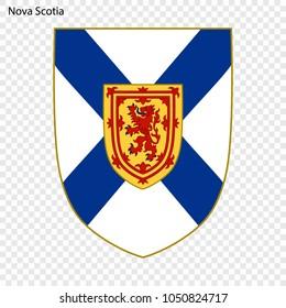Emblem of Nova Scotia, province of Canada. Vector illustration