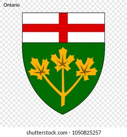 Emblem of Ontario, province of Canada. Vector illustration