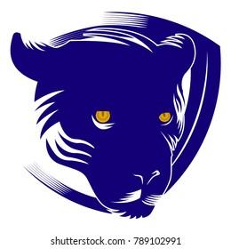emblem panther head mascot logo