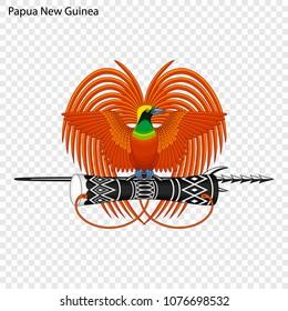 Emblem of Papua New Guinea. National Symbol