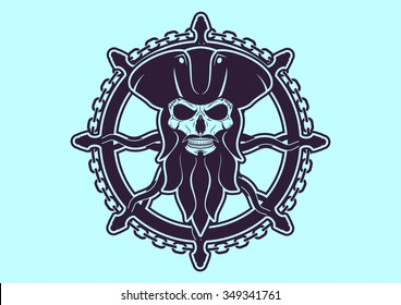the emblem of a pirate captain