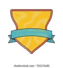 emblem with ribbon icon image