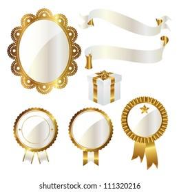 emblem and ribbon set