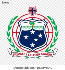 Emblem of Samoa. National Symbol