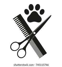 emblem of a shearing animal on a white background