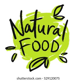 Emblem, sign for packages, natural products and health food stores.