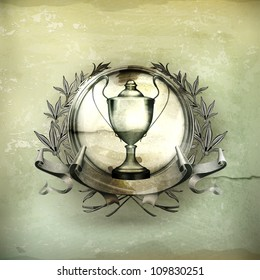 Emblem Silver, old-style vector