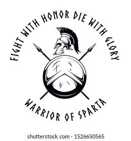 The emblem of the spartans. T-shirt print