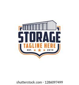 Emblem storage, warehouse logo vector, Storage company logo badge, emblem vector