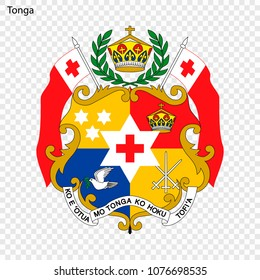 Emblem of Tonga. National Symbol