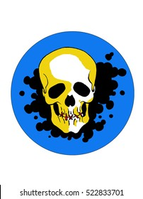 7e49e306bf4e Emblem of vector human skull .Graphical illustration for printing and t -  shirts Punk skull