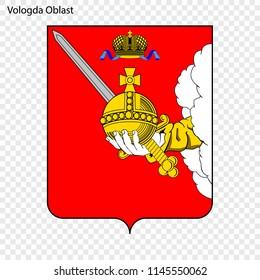Emblem of Vologda Oblast, province of Russia