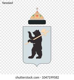 Emblem of Yaroslavl. City of Russia. Vector illustration