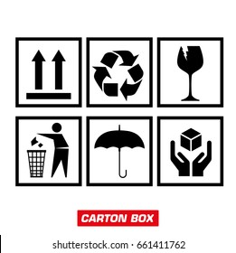 Emblems for cardboard boxes