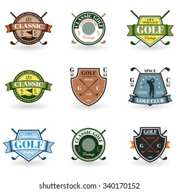 Emblems golf in black on a white background for your design and illustration