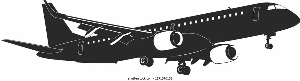 Embraer 195 aicraft vector