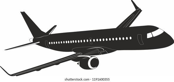 Embraer 195 aircraft vector