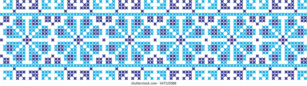 embroidered cross-stitch ornament national pattern