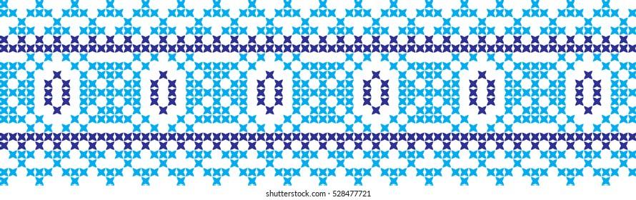 Embroidered cross-stitch pattern of Ukrainian nation