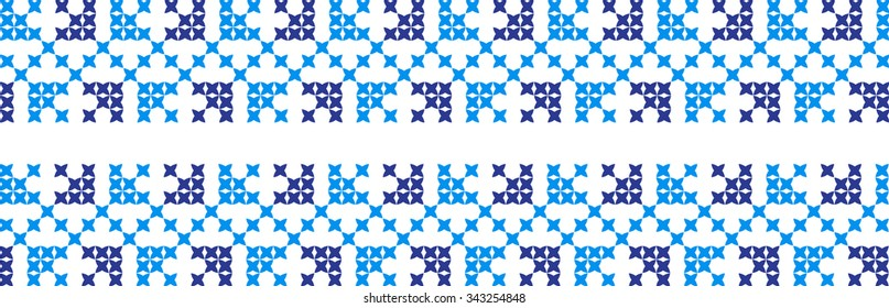 The embroidered pattern on a transparent background