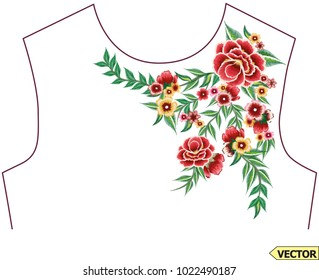embroidery collar piece