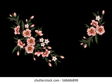 Embroidery Flower Images, Stock Photos & Vectors | Shutterstock