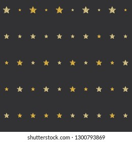 embroidery stars seamless pattern sketch drawing stars repeating background illustration, embroidered 5 pointed stars sparkles. Cosmic gold and yellow stars on blue