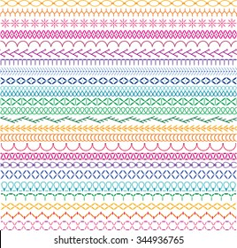 embroidery stitch border patterns