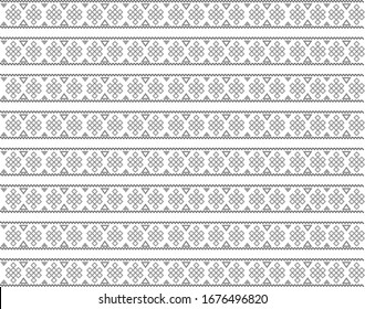 Embroidery vector illustration for clothes or home textile