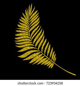 Embroidered Leaf Images Stock Photos Vectors Shutterstock You can either stitch the design as an outline (beginner pattern). https www shutterstock com image vector embroidery tropical leaves on black background 723934258