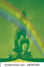 emerald city close rainbow