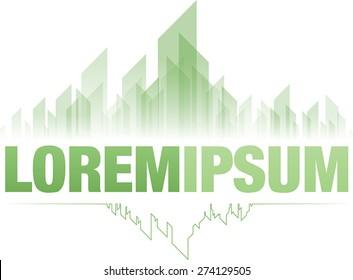 Emerald city green logo design